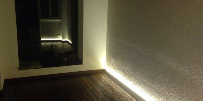 Iluminación realizada con high power LED strip